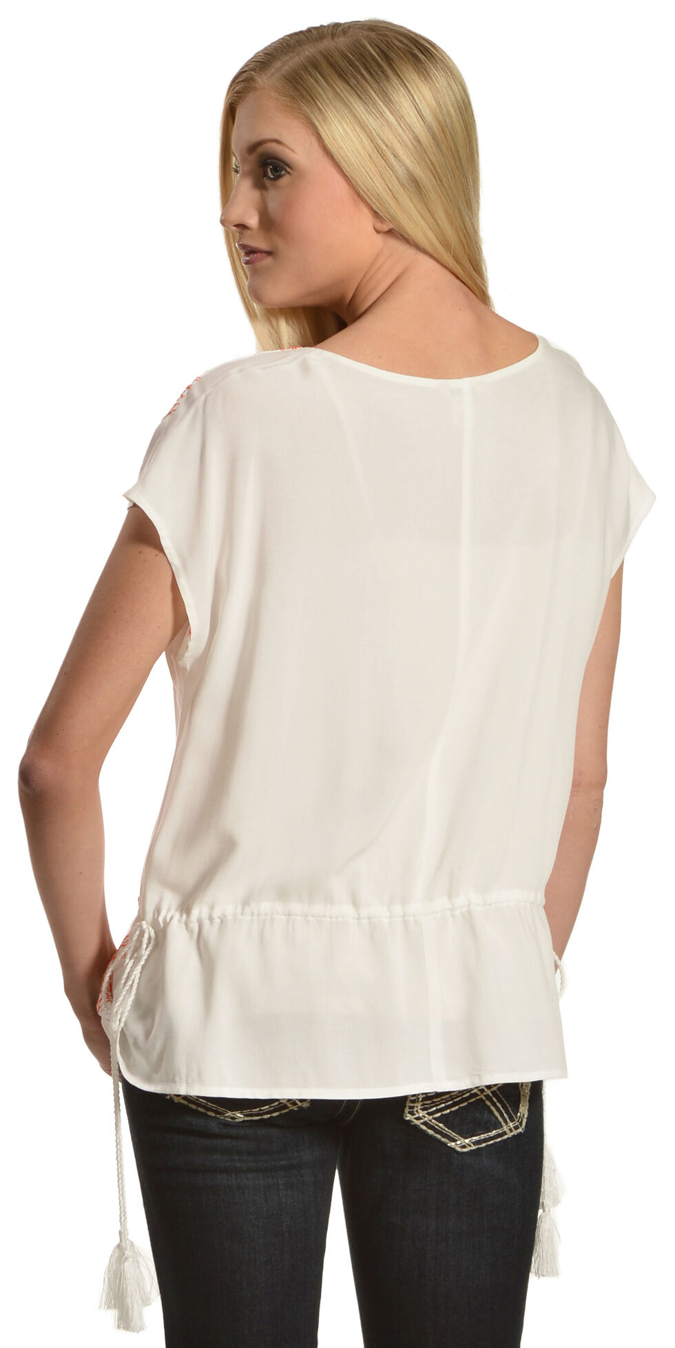 Ariat Women's Joyce Tunic Top , White, hi-res