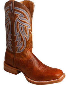 Twisted X Men's Rancher Cowboy Boots - Square Toe, Brown, hi-res