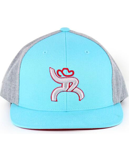 "Hooey Men's Turquoise Roughy ""Hawk"" Flatbill Baseball Cap , Turquoise, hi-res"