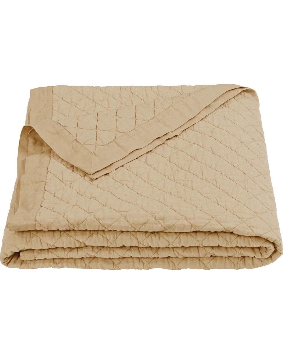 HiEnd Accents Diamond Pattern Khaki Linen King Quilt, Khaki, hi-res