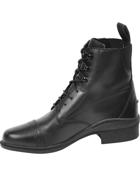 Ovation Women's Aeros Laced Paddock Boots, Black, hi-res