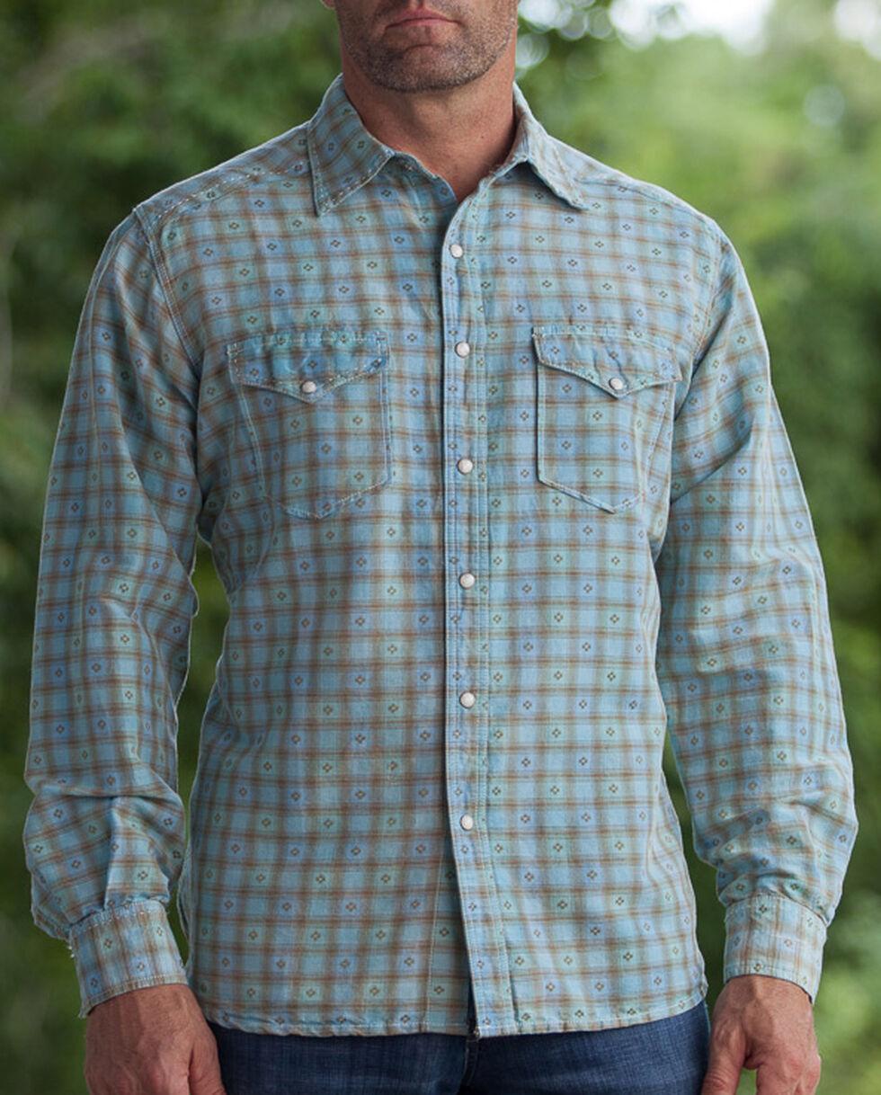 Ryan Michael Men's Aqua Vintage Dobby Plaid Shirt, Aqua, hi-res