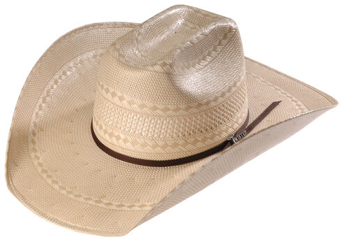 Twister Men's Shantung Straw Diamond Cowboy Hat , Natural, hi-res
