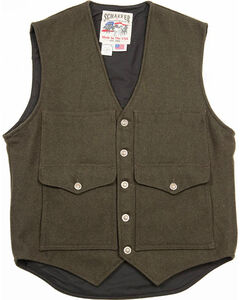 Schaefer Outfitter Men's Loden Scout Melton Wool Vest - 2XL, Olive, hi-res