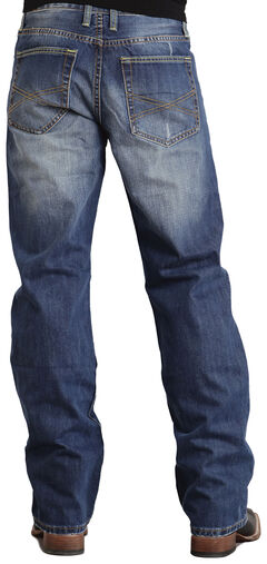 Stetson Modern Fit Classic X Stitched Jeans, , hi-res
