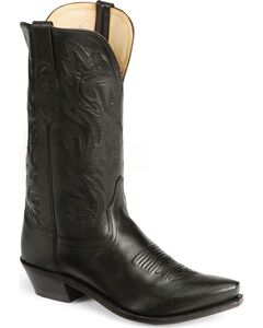 Old West Leather Cowboy Boots - Snip Toe, , hi-res