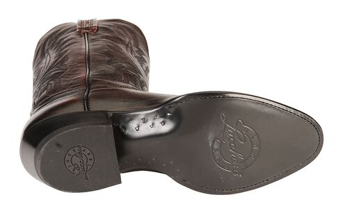 Lucchese Handcrafted Lonestar Calf Cowboy Boots - Medium Toe, Black Cherry, hi-res