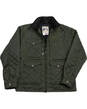 Schaefer Outfitter Men's Loden Blacktail Quilted Rangewax Jacket - Big 2X , Olive, hi-res