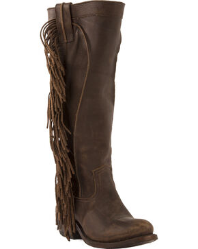 Junk Gypsy by Lane Chocolate Texas Tumbleweed Boots - Round Toe , Chocolate, hi-res