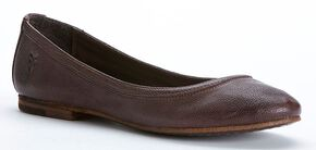 Frye Women's Carson Ballet Flats, Dark Brown, hi-res