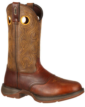 Durango Rebel Cowboy Boots, Brown, hi-res