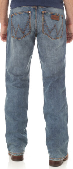 Wrangler Retro Men's Indigo Athens Slim Boot Cut Jeans, , hi-res