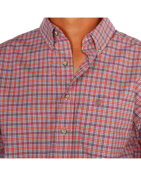 Noble Outfitters Men's Orange Generations Fit Plaid Shirt , Orange, hi-res