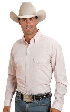 Stetson Plaid Check Button Shirt, Pink, hi-res