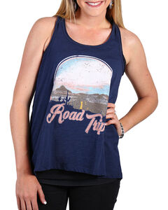 Shyanne Women's Road Trip Tank Top , Navy, hi-res