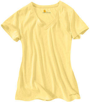 Carhartt Women's Calumet V-Neck T-Shirt, Yellow, hi-res