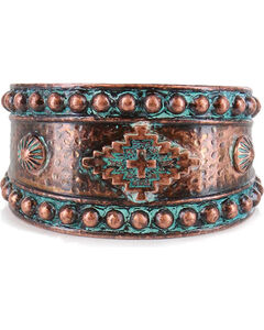 Shyanne Women's Western Engraved Cuff, Turquoise, hi-res