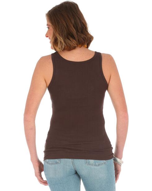 Wrangler Women's Brown Logo Tank Top , Brown, hi-res