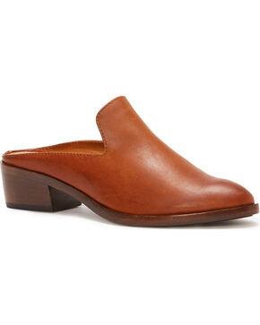Frye Women's Rust Ray Mule Shoes - Pointed Toe, Dark Brown, hi-res