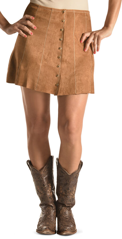 Tasha Polizzi Women's Brown Christy Skirt , Camel, hi-res