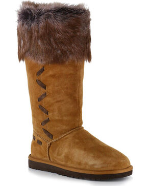 UGG® Women's Rosana Casual Boots - Round Toe, Brown, hi-res