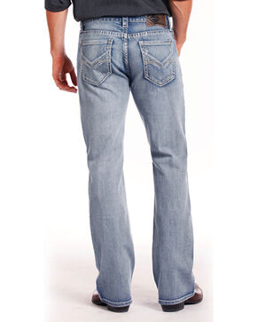 Rock & Roll Cowboy Men's Indigo ReFlex Double Barrel Jeans - Boot Cut , Indigo, hi-res