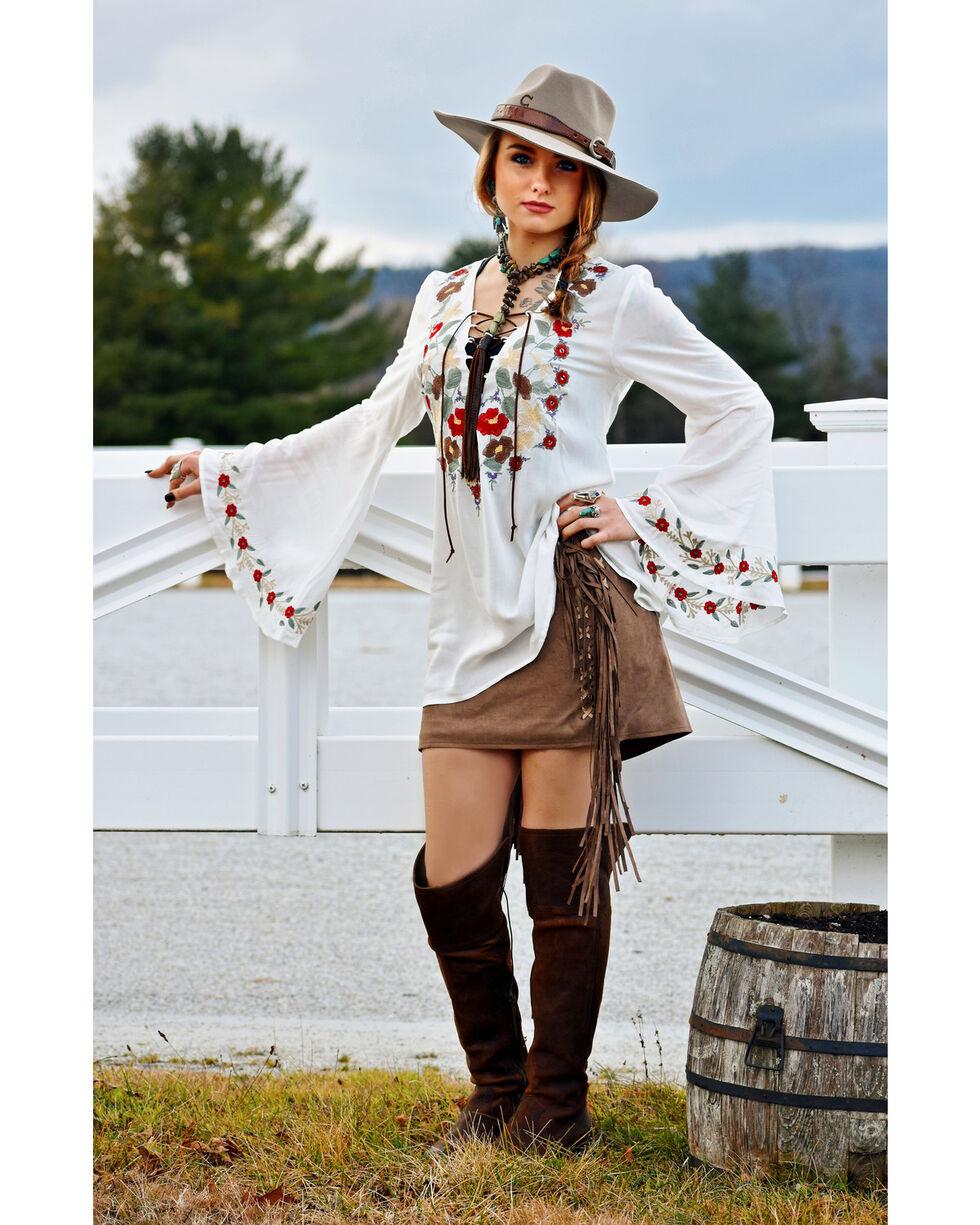 Tasha Polizzi Women's White Jewel Tunic , White, hi-res