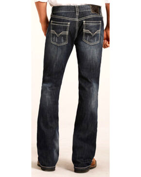 "Rock & Roll Cowboy Men's Small ""V"" Reflex Pistol Jeans - Boot Cut , Indigo, hi-res"