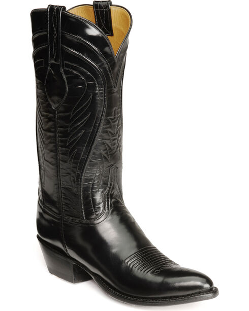 Lucchese Handcrafted Classics Seville Goatskin Boots - Pointed Toe, Black, hi-res
