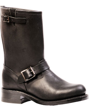 Boulet Everest Black Harness Boots - Round Toe, Black, hi-res