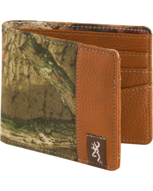 Browning Men's Mossy Oak Infinity Camo Bi-Fold Wallet, Camouflage, hi-res