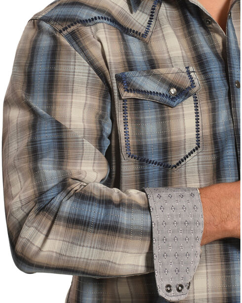 Moonshine Spirit Men's Tan Plaid Encampment Shirt , Tan, hi-res