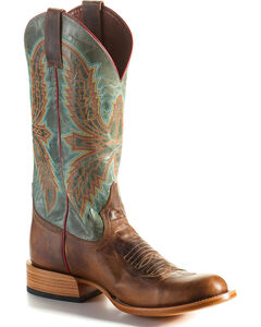 Horse Power Men's Saddle Mad Dog Cowboy Boots - Round Toe, Brown, hi-res