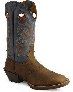 Justin Stampede Punchy Men's Cowboy Boots - Square Toe, , hi-res