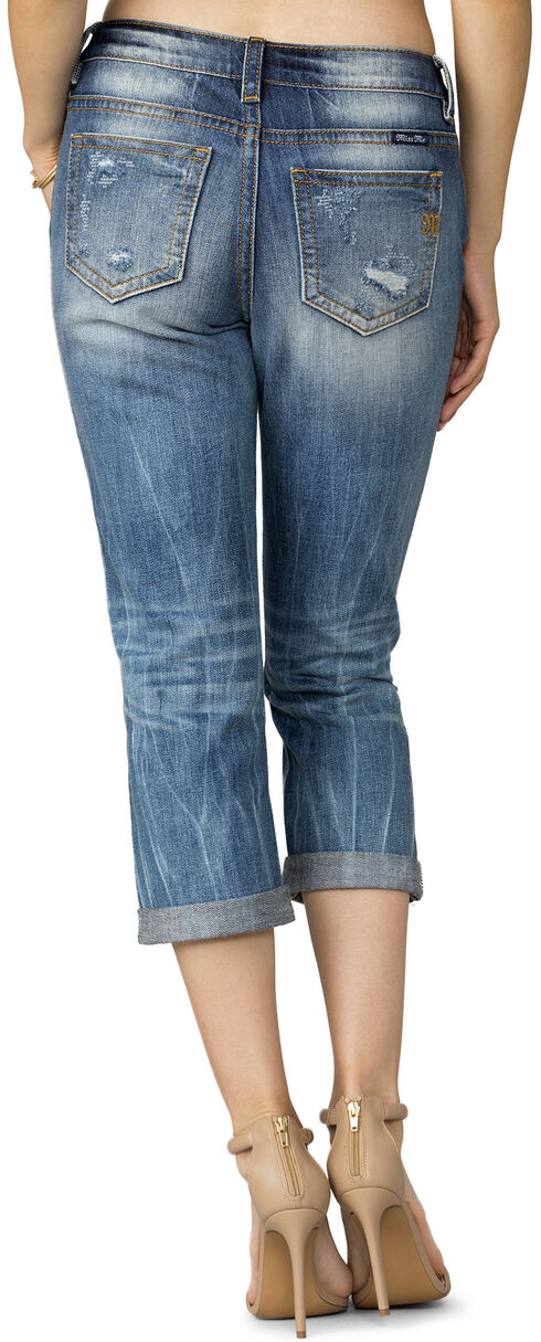 Miss Me Women's Indigo Cloud Nine Boyfriend Capri, Indigo, hi-res