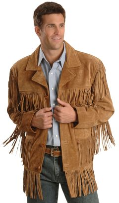 Liberty Wear Men's Suede Fringe Western Jacket - Big & Tall - 2XL, 3XL, , hi-res