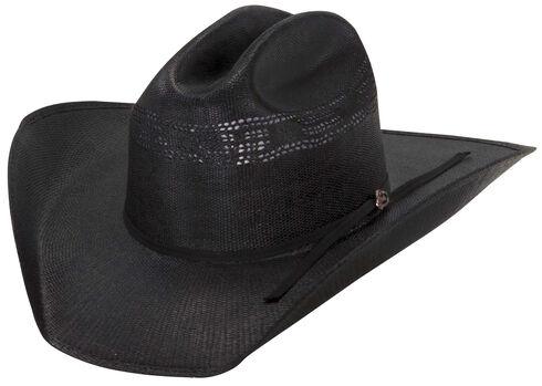 Justin 20X Cutter Black Straw Cowboy Hat, Black, hi-res