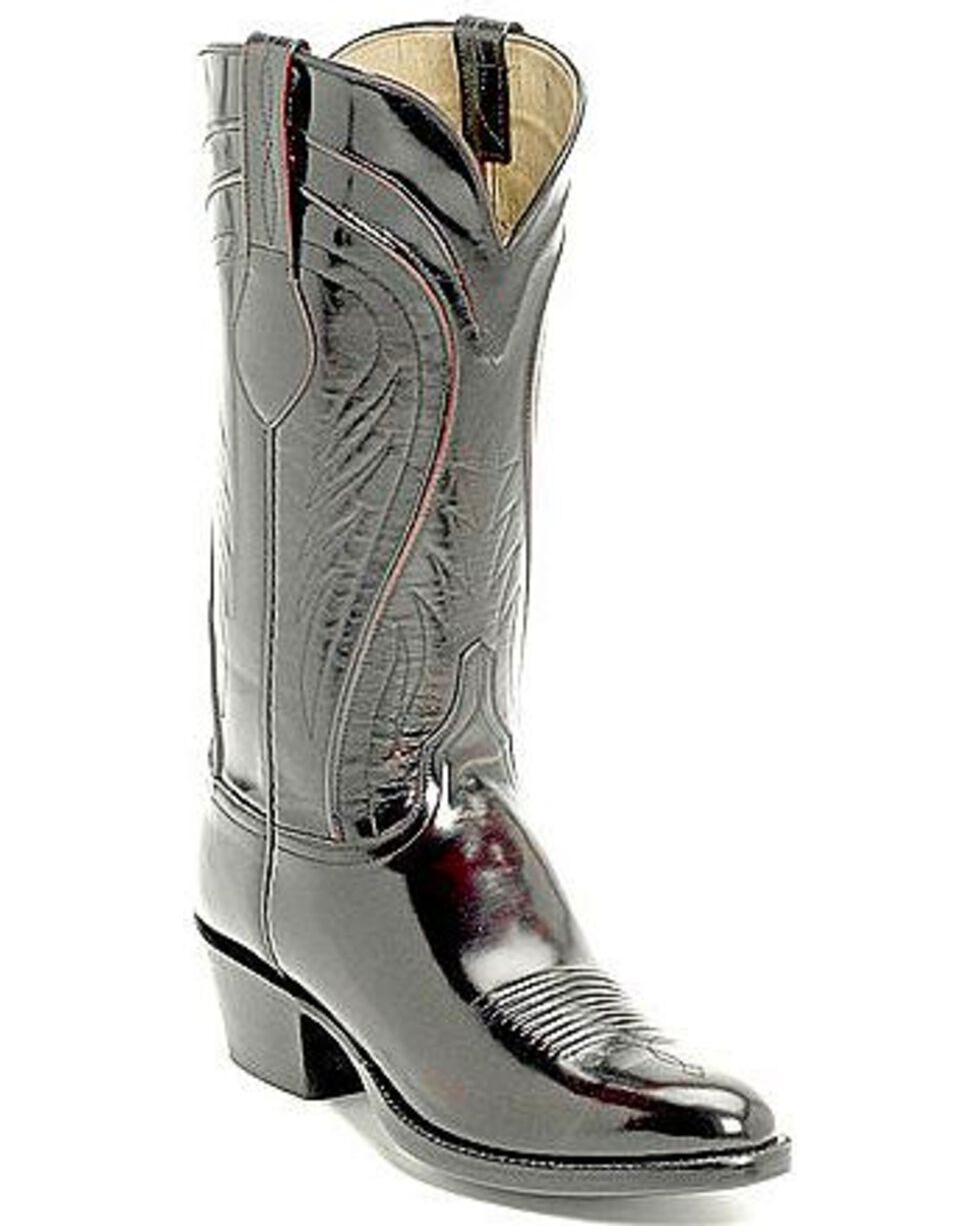 Lucchese Handcrafted Classics Seville Goatskin Boots - Pointed Toe, Black Cherry, hi-res