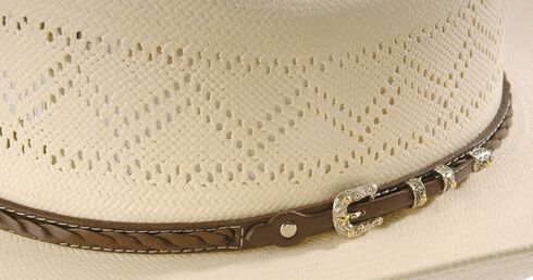 Larry Mahan 10X Gold Star Straw Hat, Natural, hi-res