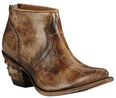Ariat Women's Chocolate Croc Print Jadyn Boots - Pointed Toe, , hi-res