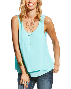 Ariat Women's Blue Jojo Tank , Blue, hi-res
