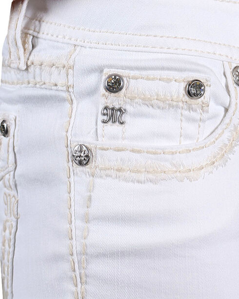 Miss Me Women's White Mid Rise Jeans - Boot Cut, White, hi-res