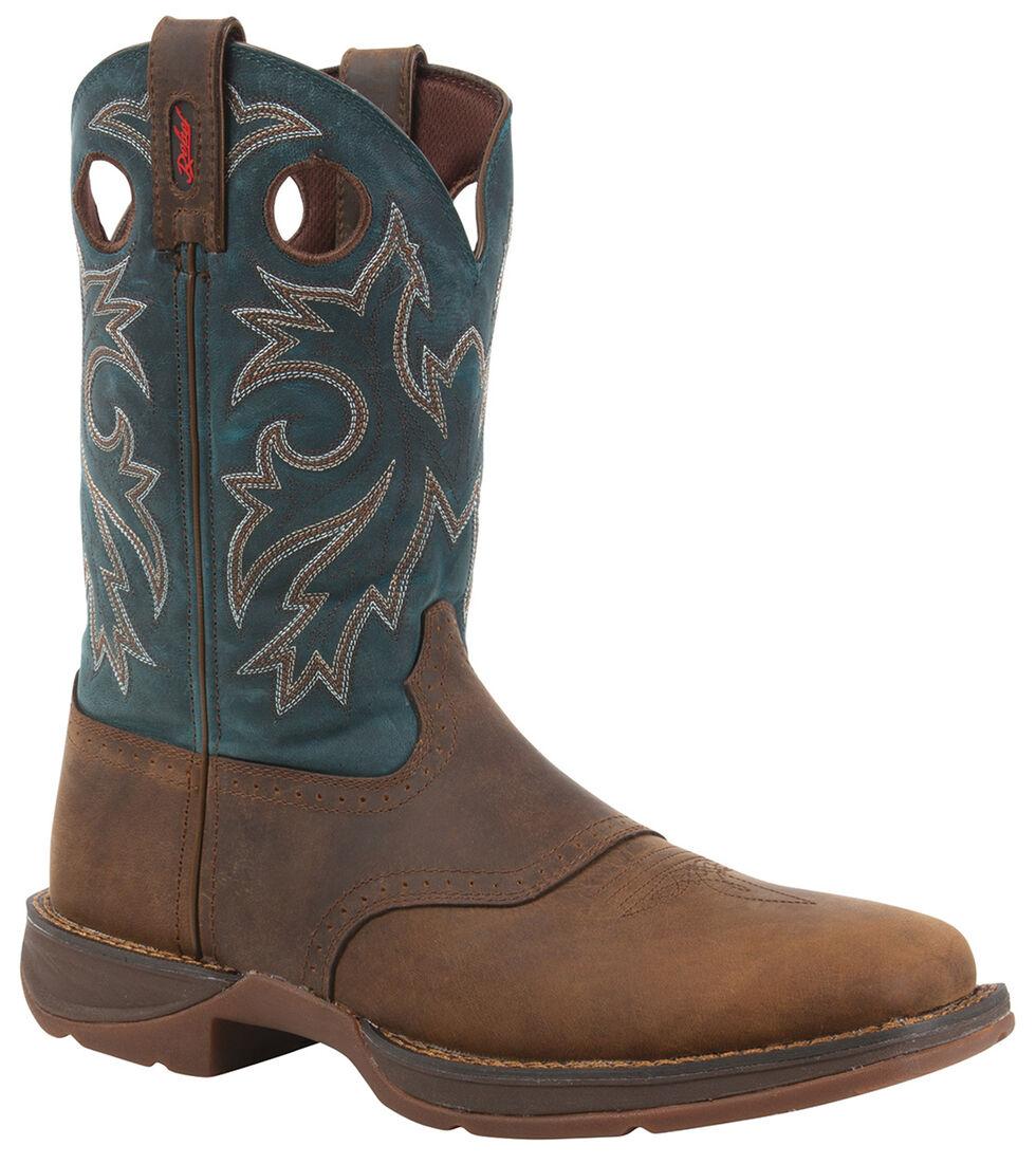 Durango Rebel Men's Tan Pull-On Western Boots - Square Toe, Tan, hi-res