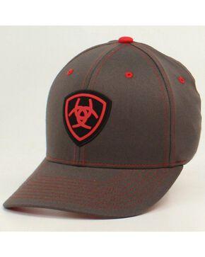 Ariat Logo Patch Flex Fit Cap, Grey, hi-res