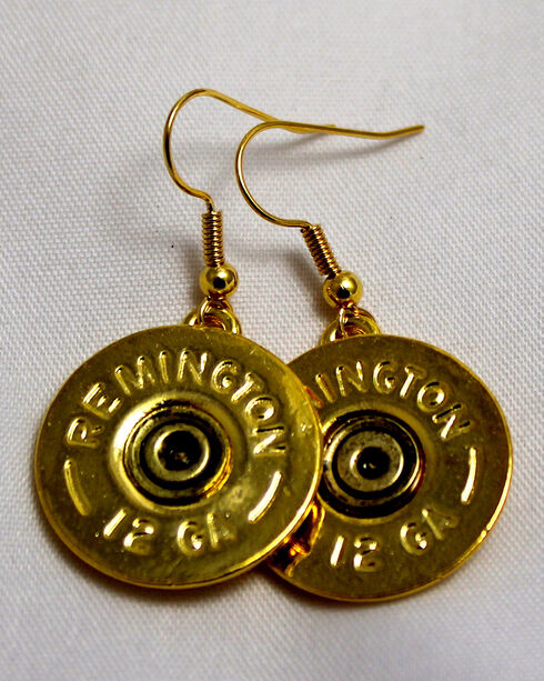SouthLife Supply Women's Abigail Single Dangle Shotshell Earring in Traditional Gold, Gold, hi-res