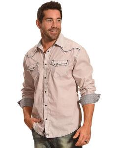 Moonshine Spirit Men's San Rafael Long Sleeve Western Shirt, Burgundy, hi-res