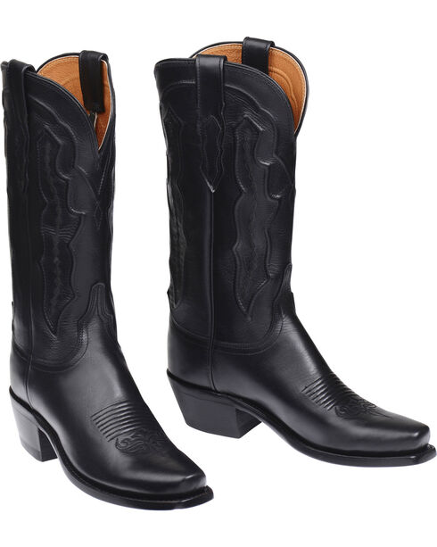 Lucchese Grace Ranch Hand Western Boots - Square Toe  , Black, hi-res