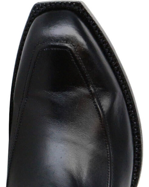 Lucchese Men's Black Kangaroo Leather Western Boots - Square Toe, Black, hi-res