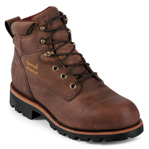 """Chippewa Arctic Insulated Waterproof 6"""" Lace-Up Work Boots - Round Toe, Bay Apache, hi-res"""