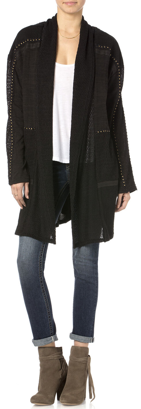Miss Me On Point Studded Cardigan, Black, hi-res